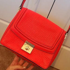 Kate Spade dark coral crossbody purse